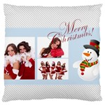 merry christmas, happy new year, xmas - Large Cushion Case (Two Sides)