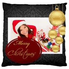 Merry Christmas, Happy New Year, Xmas By Angena Jolin   Large Cushion Case (two Sides)   Yv6qb5zztkyi   Www Artscow Com Front