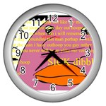 It s time to sick dibble  - Wall Clock (Silver)