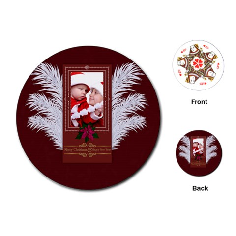 By Debe Lee   Playing Cards (round)   Dtxknhufupvi   Www Artscow Com Front