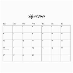 Cocktail Calendar 2013 2014 By Urvi Mehta   Wall Calendar 11  X 8 5  (18 Months)   Rvdwl7b8hsm8   Www Artscow Com Apr 2014