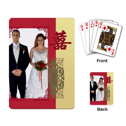 Wedding By Jo Jo   Playing Cards Single Design   Qdovgvysz6d4   Www Artscow Com Back