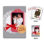 merry christmas, happy new year, xmas - Playing Cards Single Design