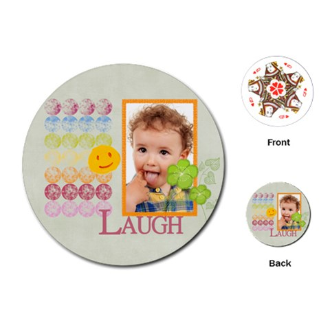 Kids, Fun, Child, Play, Happy By Jo Jo   Playing Cards (round)   0jjt10eryjqe   Www Artscow Com Front
