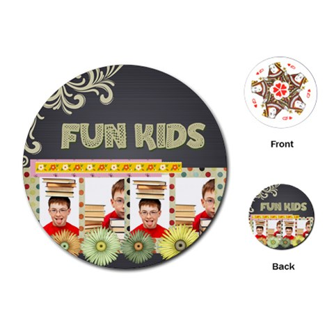 Kids, Fun, Child, Play, Happy By Jo Jo   Playing Cards (round)   S58tck5y687e   Www Artscow Com Front