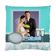 Wedding Of Blue By Paula Green   Standard Cushion Case (two Sides)   75d6m2ah4zdu   Www Artscow Com Front