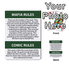 Mafia By Tim Weaver   Multi Purpose Cards (rectangle)   Lzwv2z3txa7c   Www Artscow Com Back 22