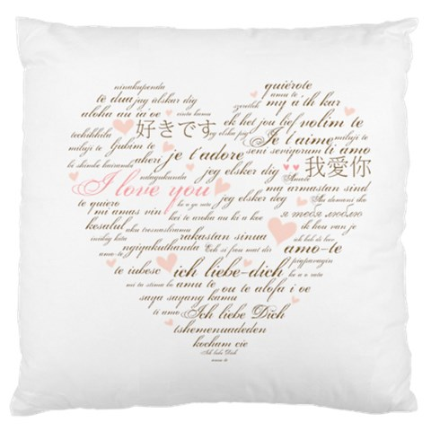 Love By Divad Brown   Large Cushion Case (one Side)   0w4bbajlcgc7   Www Artscow Com Front