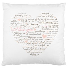 Love By Divad Brown   Large Cushion Case (two Sides)   828631c6mwj1   Www Artscow Com Back