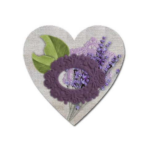 Lavender Love By Zornitza   Magnet (heart)   6bmlpy706yxx   Www Artscow Com Front