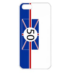 Uk Apple Iphone 5 Seamless Case (white) by PocketRacers