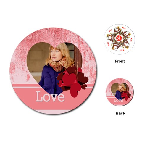 Love By Anita   Playing Cards (round)   40r35hdbh1gl   Www Artscow Com Front