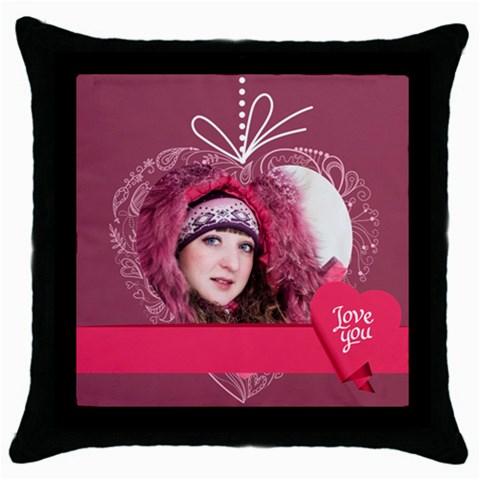 Love, Valentine By Ki Ki   Throw Pillow Case (black)   Yd0bcad8db8h   Www Artscow Com Front
