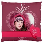 love, kids, memory, happy, fun  - Large Cushion Case (Two Sides)