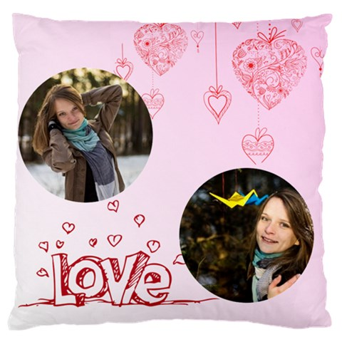 Love By Ki Ki   Large Cushion Case (one Side)   S80duo1id9ub   Www Artscow Com Front