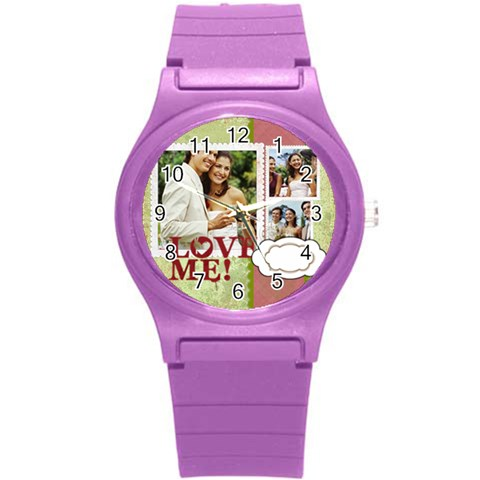 Love By Joely   Round Plastic Sport Watch (s)   Fgsex7c802do   Www Artscow Com Front