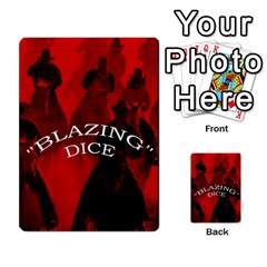 Blazing Dice Shared  1 By Dave Docherty   Multi Purpose Cards (rectangle)   Q4bf63028ym9   Www Artscow Com Front 34