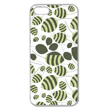 Pattern By Divad Brown   Apple Seamless Iphone 5 Case (clear)   J8y1sxrlly5c   Www Artscow Com Front