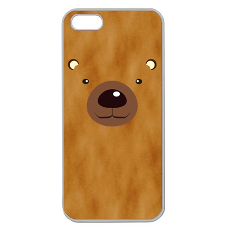Bear By Divad Brown   Apple Seamless Iphone 5 Case (clear)   8yv9dxnt32vn   Www Artscow Com Front