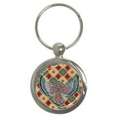 South West Leather Look Key Chain (round) by artattack4all