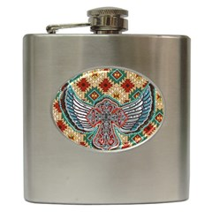 South West Leather Look Hip Flask by artattack4all