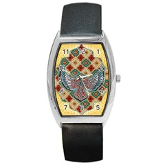 South West Leather Look Black Leather Watch (tonneau) by artattack4all