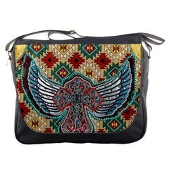 South West Leather Look Messenger Bag by artattack4all