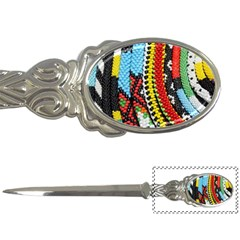 Multi Colored Beaded Background Paper Knife by artattack4all
