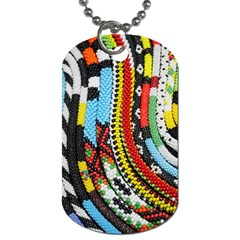Multi Colored Beaded Background Single Sided Dog Tag by artattack4all