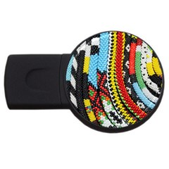 Multi Colored Beaded Background 4gb Usb Flash Drive (round) by artattack4all