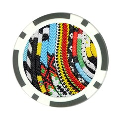 Multi Colored Beaded Background 10 Pack Poker Chip by artattack4all