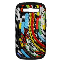 Multi Colored Beaded Background Samsung Galaxy S Iii Hardshell Case (pc+silicone) by artattack4all