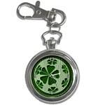 Leather-Look Irish Clover Ball Key Chain Watch