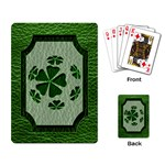 Leather-Look Irish Clover Ball Playing Cards Single Design
