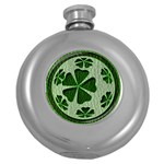 Leather-Look Irish Clover Ball Hip Flask (5 oz)