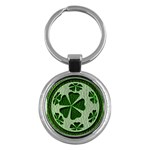 Leather-Look Irish Clover Ball Key Chain (Round)
