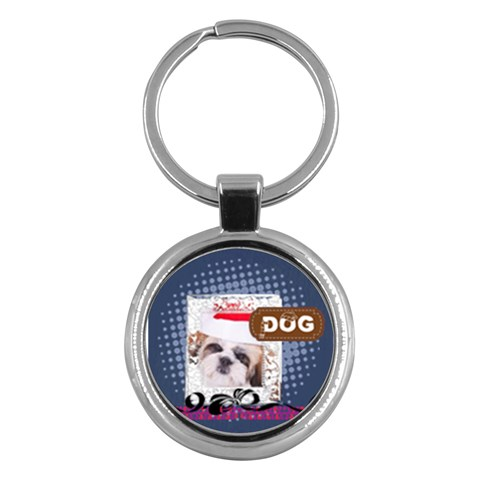 Pet, Dog, Cat By Betty   Key Chain (round)   S0me2dgz5hw7   Www Artscow Com Front