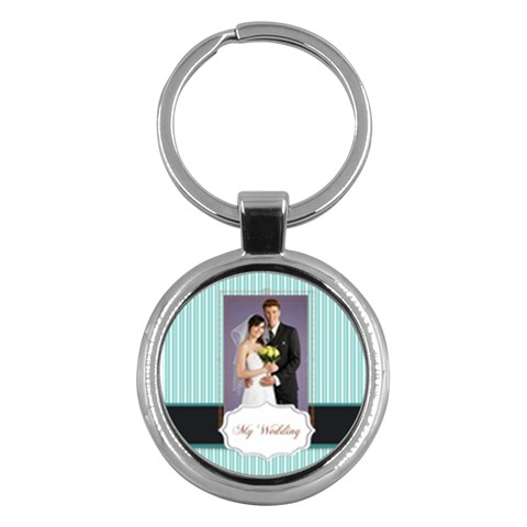 Wedding By Paula Green   Key Chain (round)   M2q46h9dicwp   Www Artscow Com Front