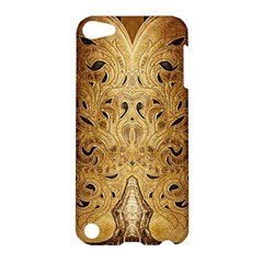 Golden Brown Tooled Faux Leather Look Apple Ipod Touch 5 Hardshell Case by artattack4all
