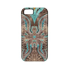 Turquoise And Gray Eagle Tooled Leather Look Apple Iphone 5 Classic Hardshell Case (pc+silicone) by artattack4all