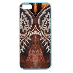 Brown And Black Tooled Leather Design Look Apple Seamless Iphone 5 Case (color) by artattack4all