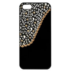 Black Leather Look w/Silver Studs Apple iPhone 5 Seamless Case (Black) by artattack4all