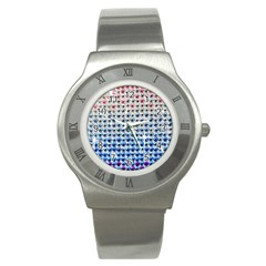 Rainbow Colored Bling Stainless Steel Watch (round) by artattack4all
