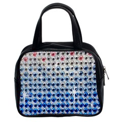 Rainbow Colored Bling Twin Sided Satched Handbag by artattack4all