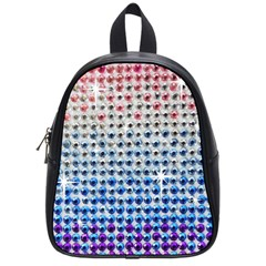 Rainbow Colored Bling Small School Backpack by artattack4all