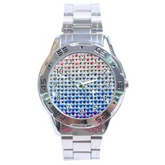 Rainbow Colored Bling Stainless Steel Analogue Watch (Round) by artattack4all