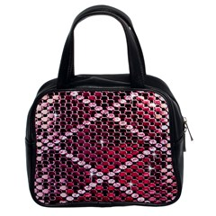 Red Glitter Bling Twin Sided Satched Handbag by artattack4all