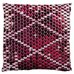 Red Glitter Bling Large Cushion Case (one Side) by artattack4all