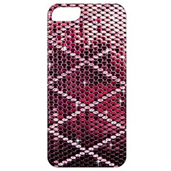 Red Glitter Bling Apple Iphone 5 Classic Hardshell Case by artattack4all