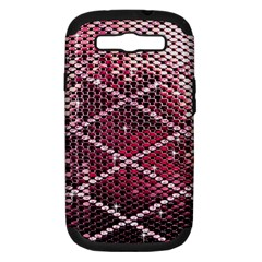 Red Glitter Bling Samsung Galaxy S Iii Hardshell Case (pc+silicone)